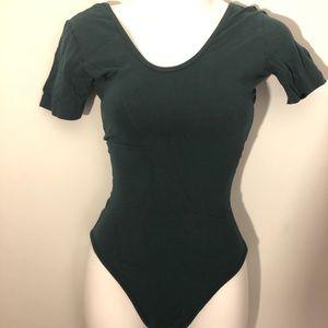 American Apparel Double U Neck Bodysuit